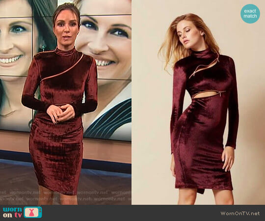 Ruth Velvet Zip Dress by Agent Provocateur worn by Catt Sadler on E! News