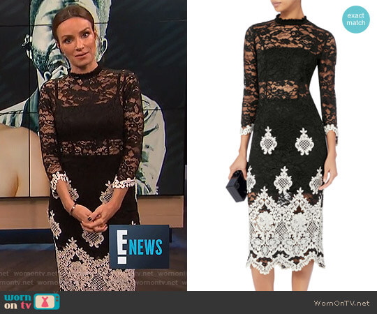 'Beata' Lace Midi Dress by Alexis worn by Catt Sadler  on E! News