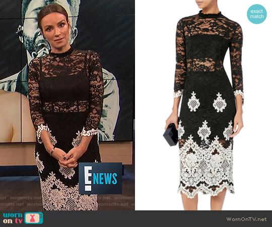 'Beata' Lace Midi Dress by Alexis worn by Catt Sadler (Catt Sadler) on E! News