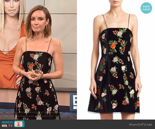 'Launa' Embroidered Sleeveless Dress by Alice + Olivia worn by Catt Sadler on E! News