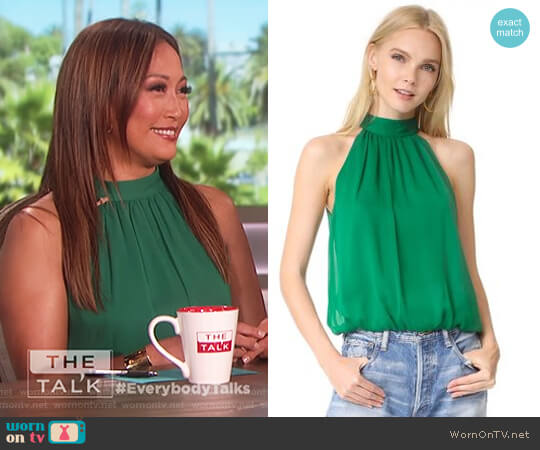 Maris Gathered Halter Top by Alice + Olivia worn by Carrie Inaba  on The Talk