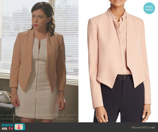 'Roxanne' Collarless Jacket by Alice + Olivia worn by Rachel Bloom on Crazy Ex-Girlfriend