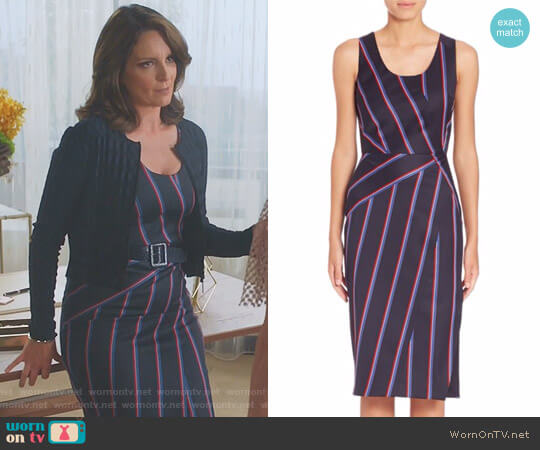 'Carole' Striped Dress by Altuzarra worn by Diana St. Tropez (Tina Fey) on Great News