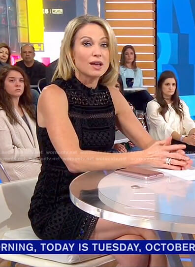 Amy's black eyelet dress on Good Morning America