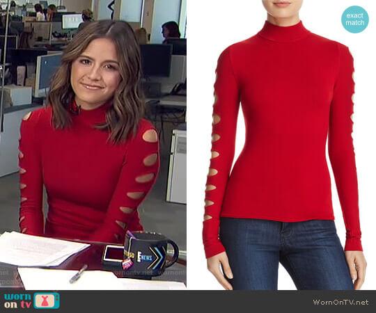 Cutout-Sleeve Sweater by Aqua worn by Erin Lim on E! News