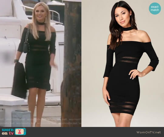 Black Ariella Choker Dress by Bebe worn by Tamra Judge  on The Real Housewives of Orange County