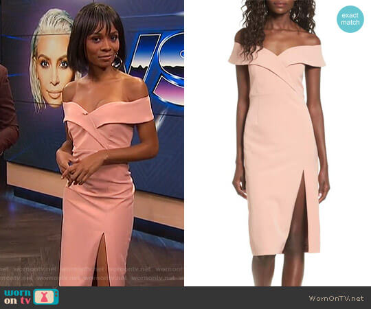 'Bella' Midi Dress by Bardot worn by Zuri Hall on E! News