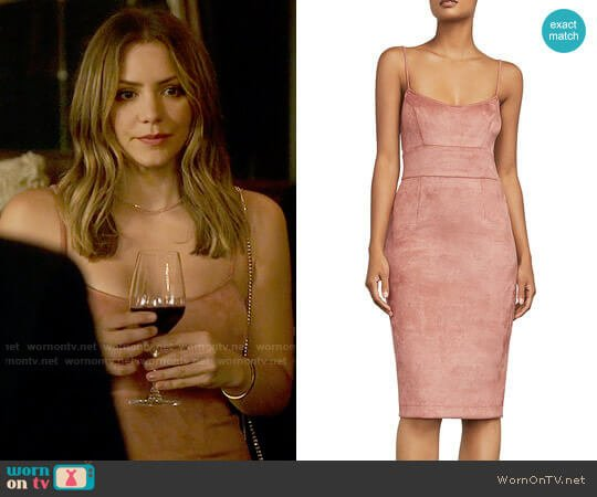Bcbgmaxazria Alese Faux Suede Dress worn by Paige Dineen (Katharine McPhee) on Scorpion