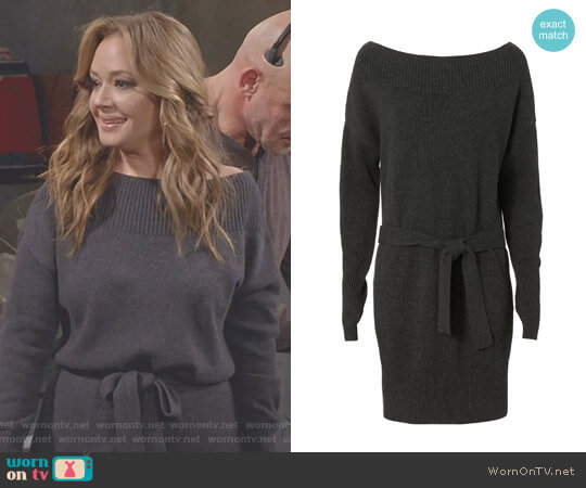 Betsee Off Shoulder Sweater Dress by Exclusive for Intermix worn by Leah Remini on Kevin Can Wait