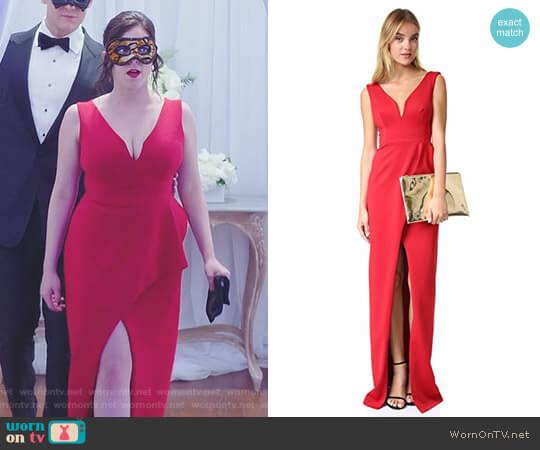'Hendricks' Gown by Black Halo worn by Rachel Bloom on Crazy Ex-Girlfriend