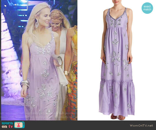 St. Barth Jomeri Silk Maxi Dress by Calypso worn by Kameron Westcott on The Real Housewives of Dallas