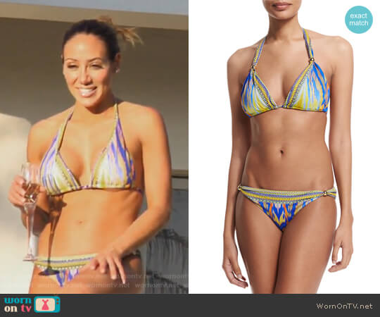 Gold Ball Printed Bikini Set by Camilla worn by Melissa Gorga on The Real Housewives of New Jersey