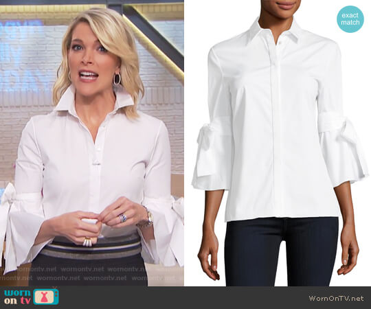 Tie-Sleeve Poplin Shirt by Carolina Herrera worn by Megyn Kelly  on Today