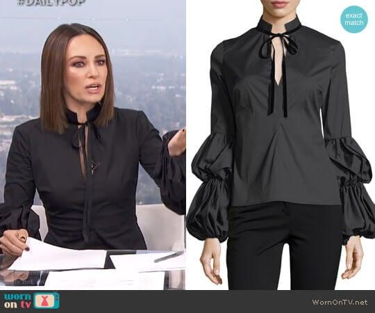 'Yasmin'  Blouse by Caroline Constas worn by Catt Sadler  on E! News