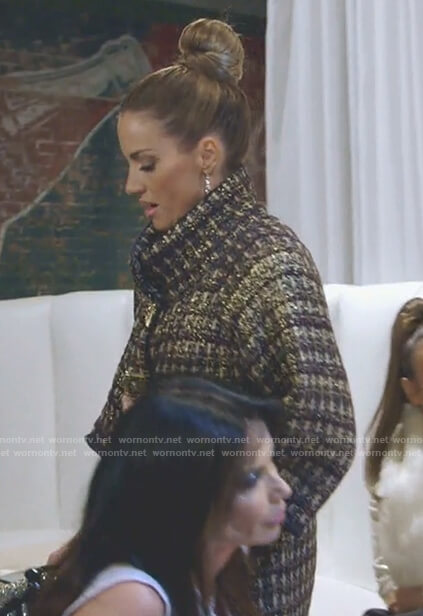Cary's tweed coat on The Real Housewives of Dallas