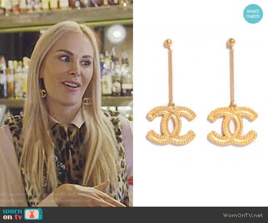 CC Drop Earrings by Chanel worn by Kameron Westcott (Kameron Westcott) on The Real Housewives of Dallas