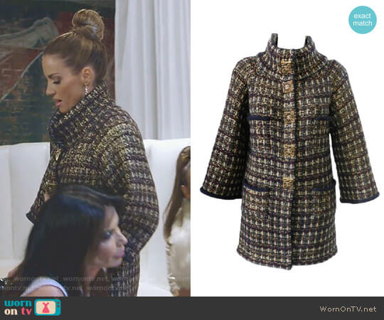 Paris-Byzance Coat by Chanel worn by Cary Deuber on The Real Housewives of Dallas