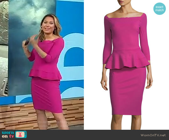 'Sina' Dress by La Petite Robe di Chiara Boni worn by Ginger Zee  on Good Morning America