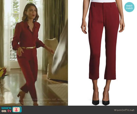 Crepe Cigarette Pants by Co worn by Cristal Flores (Nathalie Kelley) on Dynasty