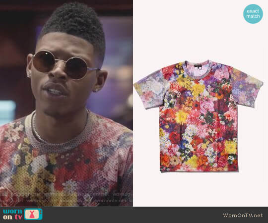Floral Printed Mesh Top by Comme des Garcons worn by Bryshere Y. Gray on Empire