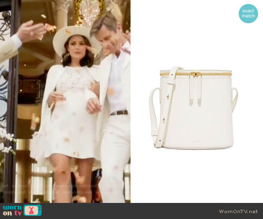 Cuero & Mor Mini Bucket Bag worn by Cristal Flores (Nathalie Kelley) on Dynasty