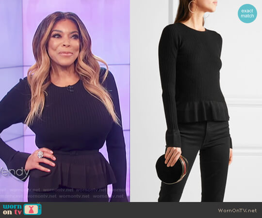 Ribbed-knit Peplum Sweater by Diane von Furstenberg worn by Wendy Williams  on The Wendy Williams Show