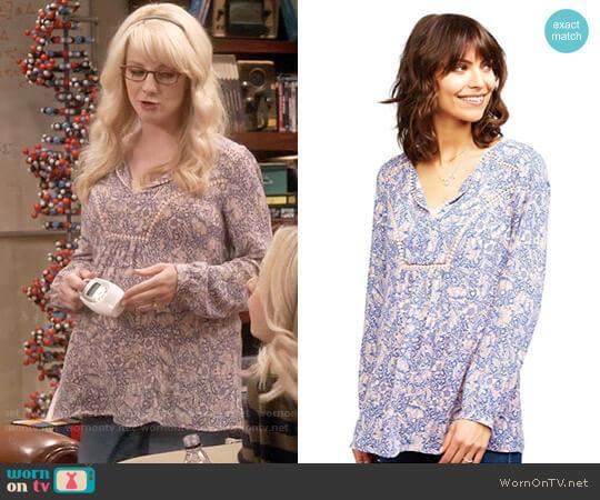 Daniel Rainn Decorative Trim Maternity Blouse worn by Bernadette Rostenkowski (Melissa Rauch) on The Big Bang Theory