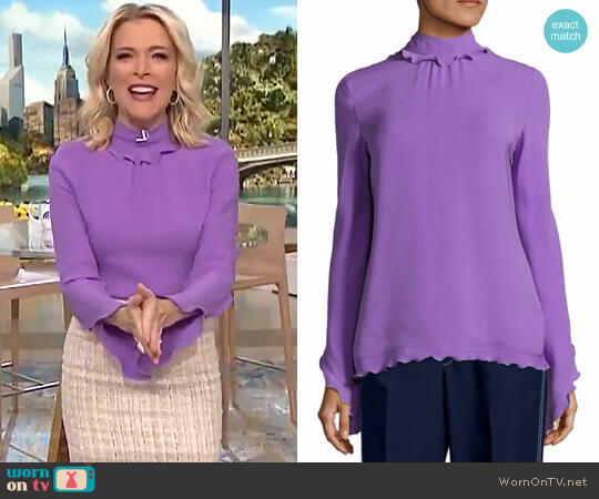 Silk Mockneck Top by Derek Lam worn by Megyn Kelly  on Today