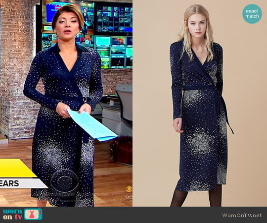D Ring Wrap Dress by Diane von Furstenberg worn by Norah O'Donnell on CBS This Morning
