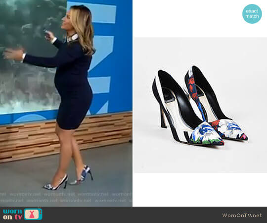'Songe' Point Toe Pumps by Christian Dior worn by Ginger Zee on Good Morning America