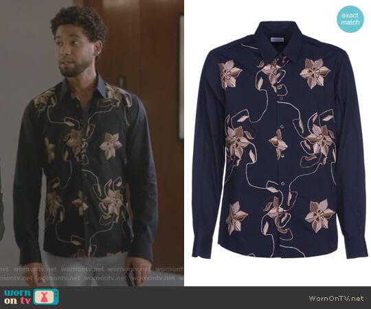 Embroidered Flowers Shirt by Dries van Noten worn by Jamal Lyon (Jussie Smollett) on Empire