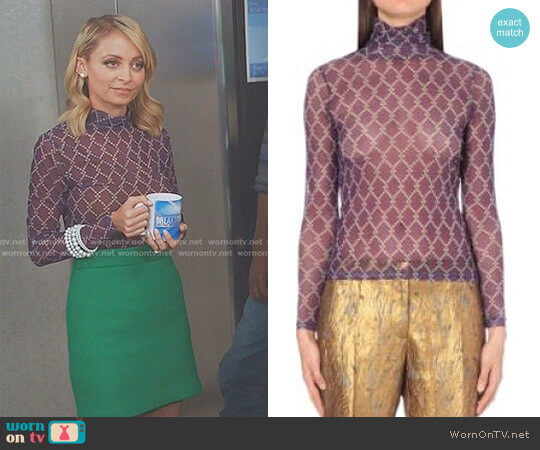 Hind Mesh Top by Dries Van Noten worn by Portia Scott-Griffith (Nicole Richie) on Great News