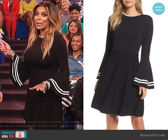 Bell Sleeve Fit & Flare Dress by Eliza J worn by Wendy Williams  on The Wendy Williams Show