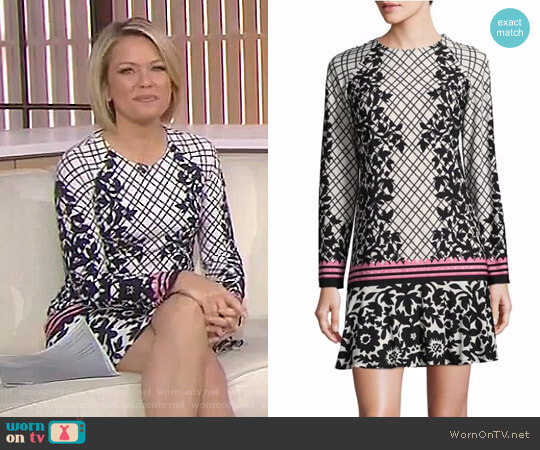 Floral Ruffled Shift Dress by Eliza J worn by Dylan Dreyer (Dylan Dreyer) on Today