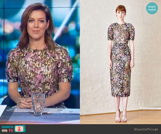 Dromana Dress by Elliatt worn by Gorgi Coghlan  on The Project