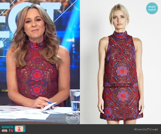 Renaissance Top by Elliatt Collective worn by Carrie Bickmore  on The Project