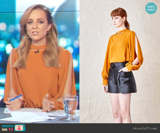 Aurelia Top by Elliatt Collective worn by Carrie Bickmore on The Project