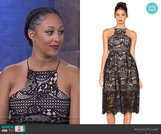 In The Air Dress by Elliatt worn by Tamera Mowry  on The Real