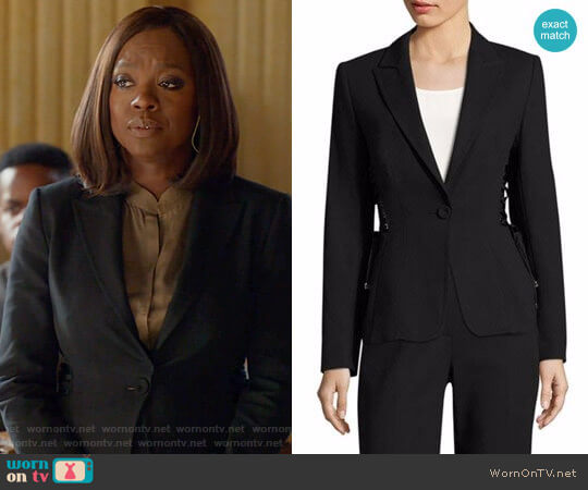 Escada Bakara Jacket worn by Viola Davis on HTGAWM