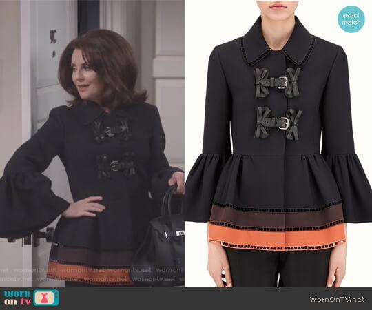 Short Jacket by Fendi worn by Karen Walker (Megan Mullally) on Will & Grace