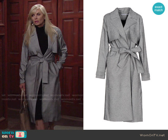 Finders Keepers Get Up Trench Jacket worn by Eileen Davidson on The Young & the Restless