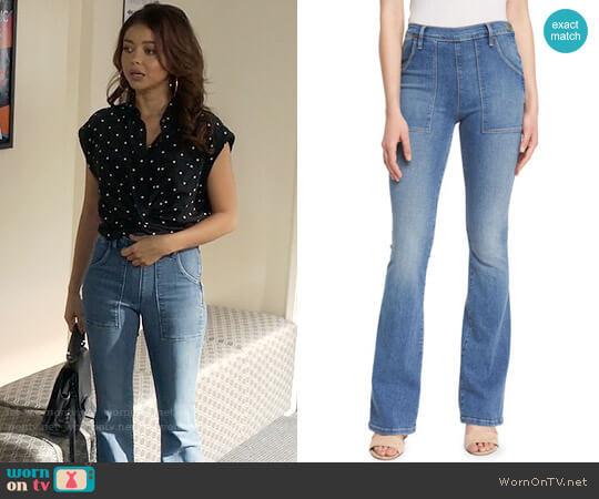 Frame Denim Le Flare De Francoise Jeans worn by Sarah Hyland on Modern Family