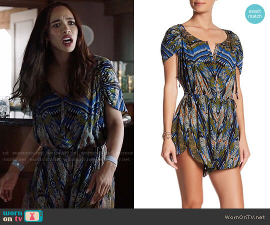 Free People Dream All Night Romper worn by Cleopatra Coleman on Last Man On Earth