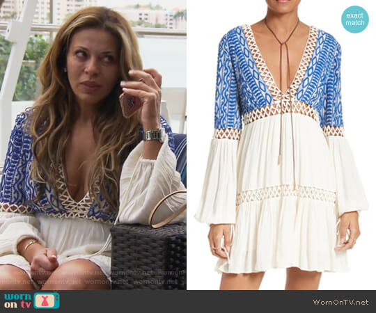 Dusk Till Dawn Minidress by Free People worn by Dolores Catania on The Real Housewives of New Jersey