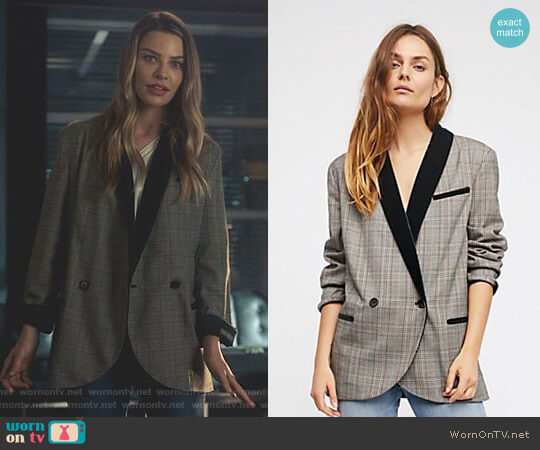 Lucifer Boo Normal: WornOnTV: Chloe's Plaid Contrast Shawl Collar Blazer On