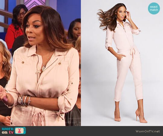 Denim Jumpsuit by Gabrielle Union for New York & Co worn by Wendy Williams on The Wendy Williams Show