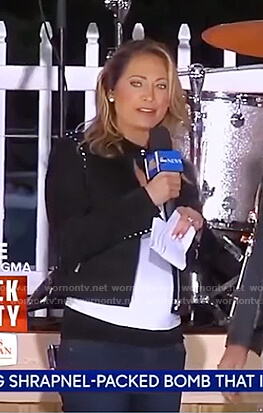 Ginger's black studded jacket on Good Morning America