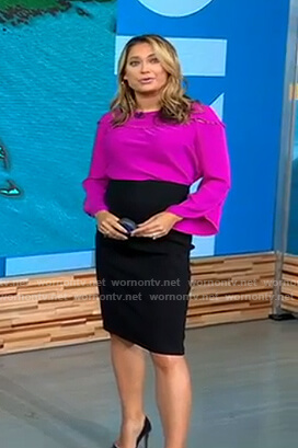 Ginger's purple flared sleeve top on Good Morning America