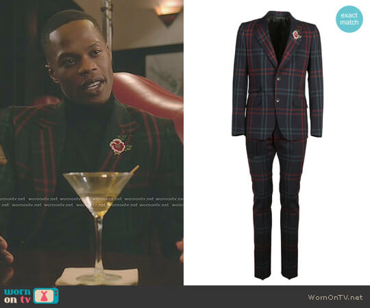 Checkered Suit by Gucci worn by Sam Adegoke on Dynasty