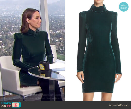 'Olga' Turtleneck Velvet Dress by Guess worn by Catt Sadler (Catt Sadler) on E! News